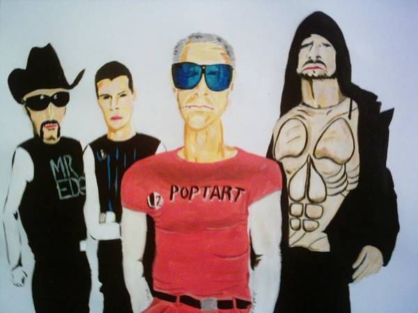 U2 Poster featuring the painting Pop Tart by Colin O neill