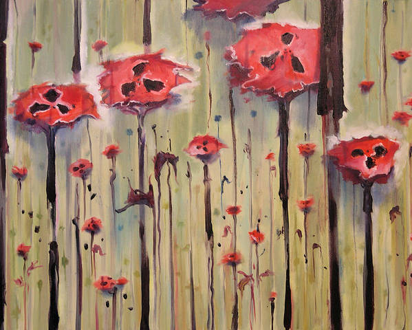 Poppy Field Poster featuring the painting Poppy Field by Jenna Fournier