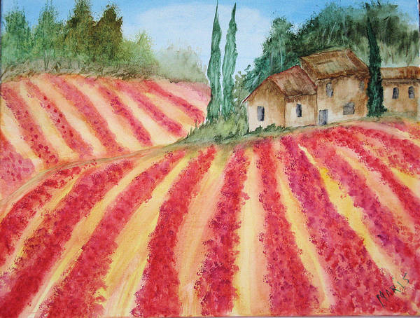 Landscape Poster featuring the painting Poppy Fields by Maris Sherwood