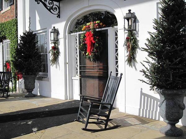 Photography Poster featuring the photograph Porch At Boone Hall Plantation Charleston Sc by Susanne Van Hulst