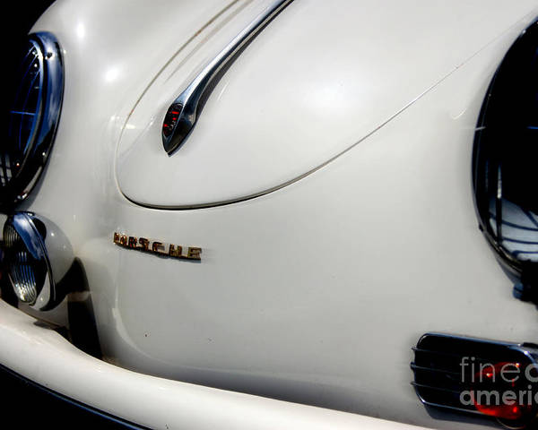 Porsche Poster featuring the photograph The White Porsche by Steven Digman