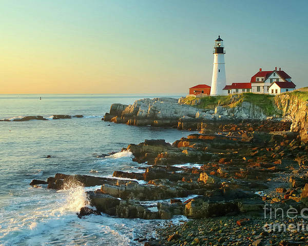 Coastline Poster featuring the photograph Portland Head Light No. 2 by Jon Holiday