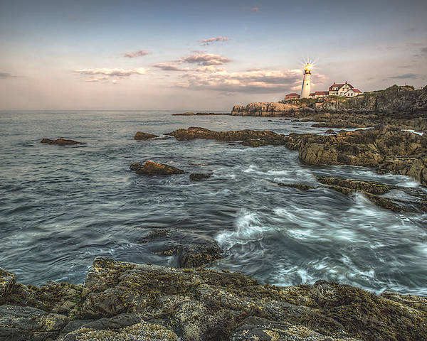 Landscape Poster featuring the photograph Portland Headlight Mood Vision by David Pratt