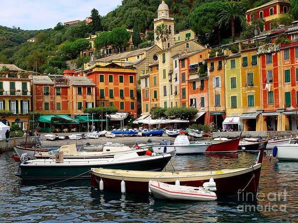 Portofino Poster featuring the photograph Portofino Italy by Nancy Bradley
