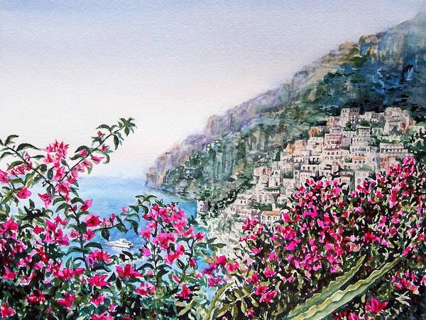 Italy Poster featuring the painting Positano Italy by Irina Sztukowski