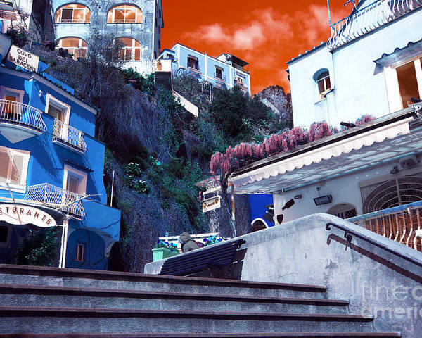 Positano Living Pop Art Poster featuring the photograph Positano Living Pop Art by John Rizzuto