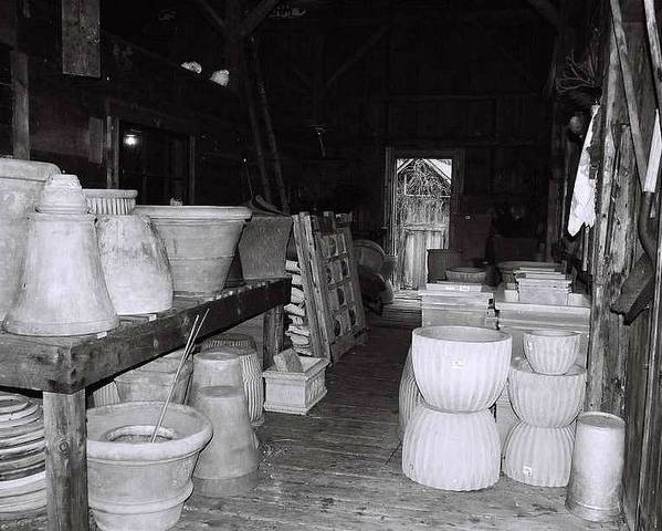 Black And White Poster featuring the photograph Potting Barn Of Maine by AnnaJanessa PhotoArt
