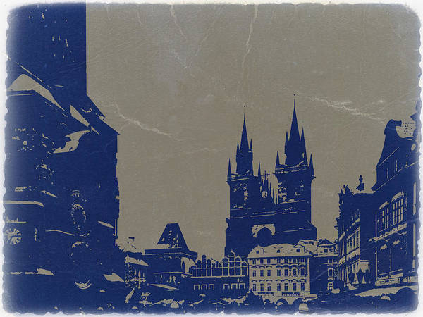 Prague Poster featuring the photograph Prague Old Town Square by Naxart Studio