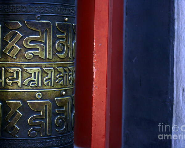 Prayer Poster featuring the photograph Prayer Wheel At The Lama Temple by April Holgate