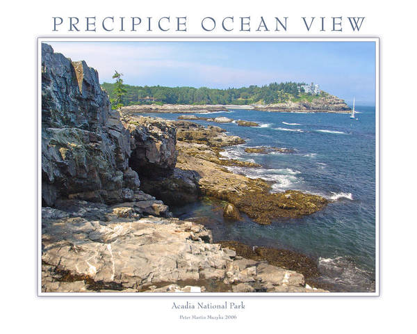Landscape Poster featuring the photograph Precipice Ocean View by Peter Muzyka