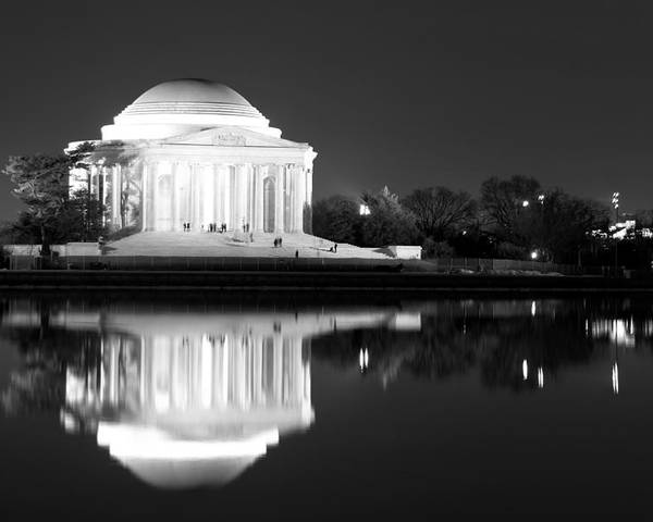 Jefferson Memorial Poster featuring the photograph Presence Of A Rival by Mitch Cat