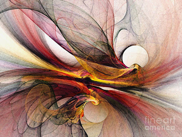 Abstract Poster featuring the digital art Presentiments by Karin Kuhlmann