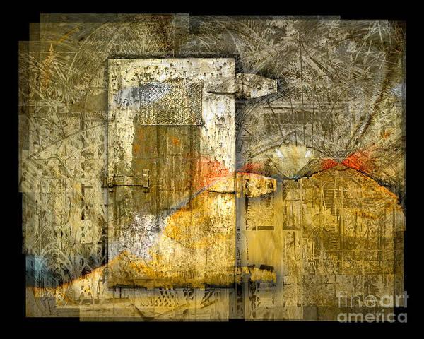 Door Poster featuring the digital art Presidio Door by Chuck Brittenham