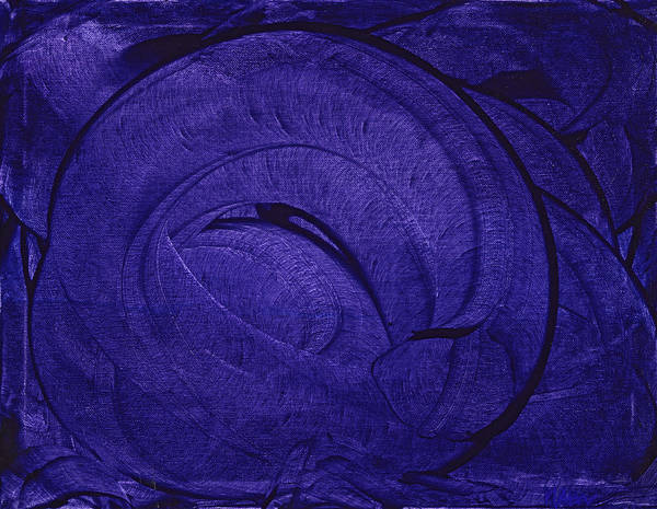 Purple Poster featuring the painting Pretty In Purple by Matthew Hahn
