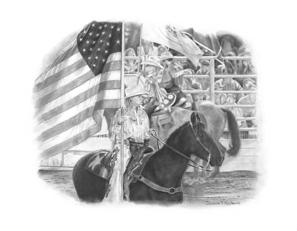 Rodeo Poster featuring the drawing Pride by Douglas Kochanski