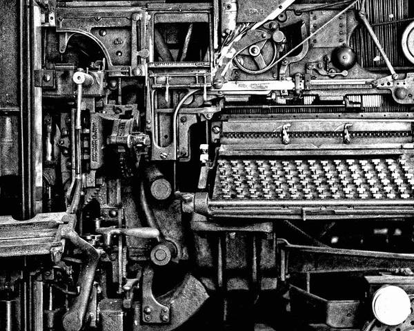 Printing Press Poster featuring the photograph Printing Press by Kenneth Mucke
