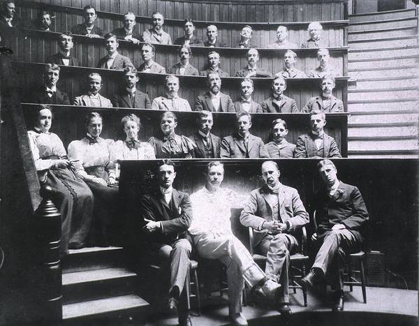 History Poster featuring the photograph Professors Harvey Cushing, Howard by Everett