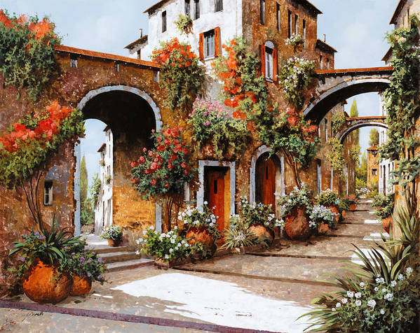 Landscape Poster featuring the painting Profumi Di Paese by Guido Borelli
