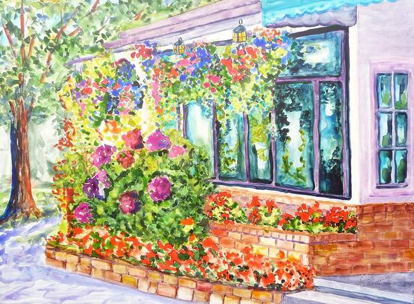 Flowers Poster featuring the painting Profusion by Ruth Kamenev