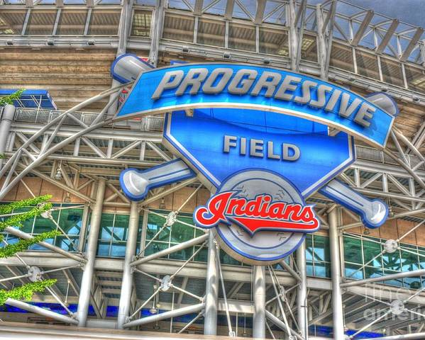 Progressive Field Poster featuring the photograph Progressive Field by David Bearden