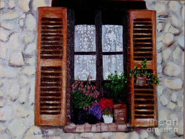 Provence Poster featuring the painting Provence Morning by Laurie Morgan
