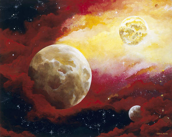 Space Poster featuring the painting Psalm by Laura Swink