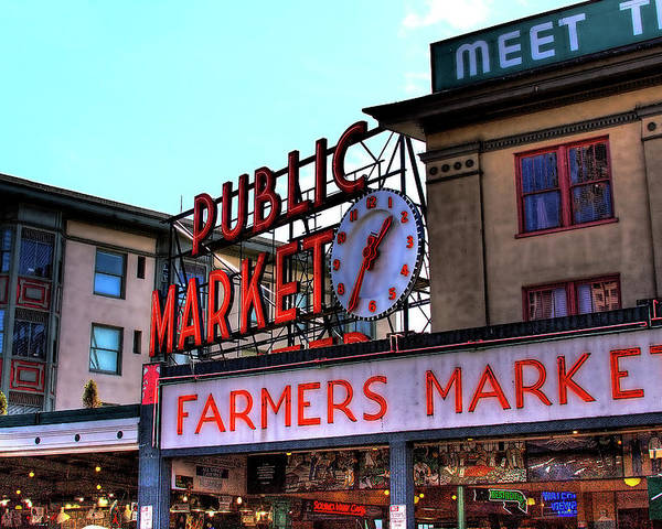 Pike Place Market Poster featuring the photograph Public Market II by David Patterson
