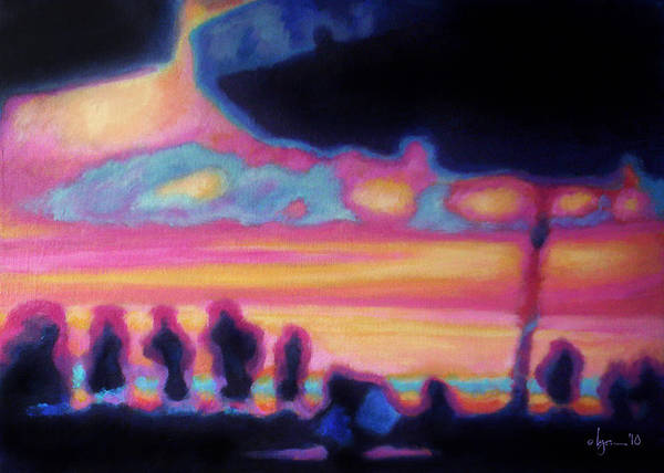 Mexico Poster featuring the painting Puerto Vallarta Umbrella by Angela Treat Lyon
