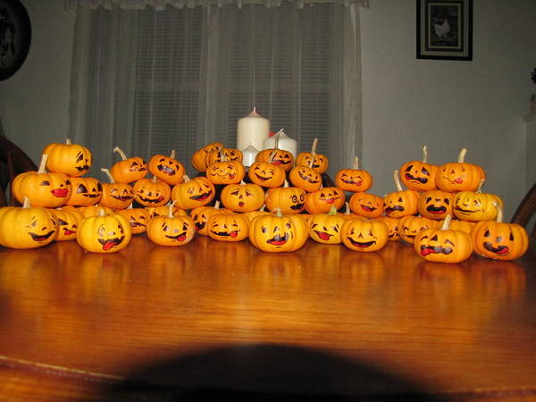Pumpkins Poster featuring the photograph Pumpkins by Michael TMAD Finney