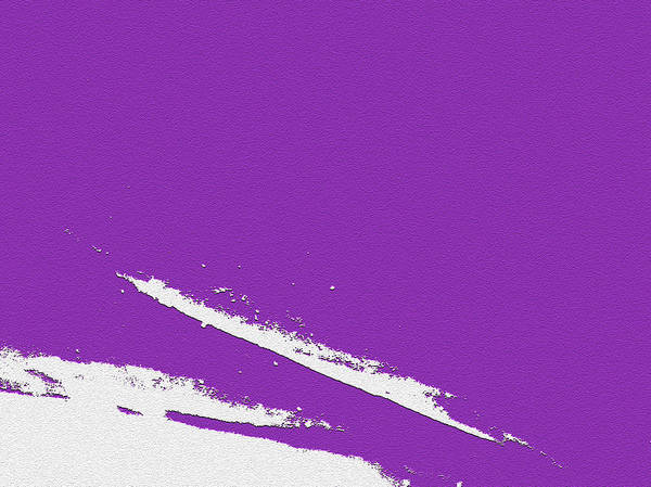 Purple Poster featuring the digital art Purple by Are Lund