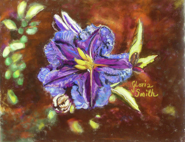 Cactus Flower Poster featuring the pastel Purple Cactus Flower by Gloria Smith