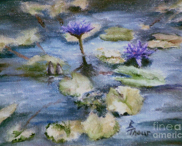 Lily Poster featuring the painting Purple Lily by Brenda Thour