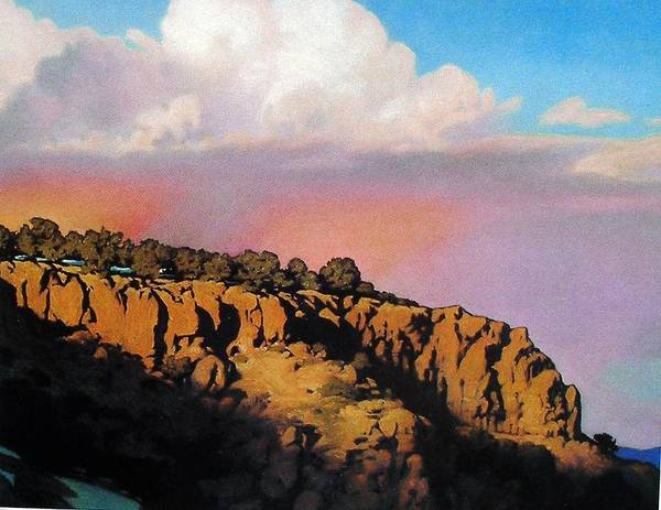 Landscape Poster featuring the painting Purple Rain by Kevin Lawrence Leveque
