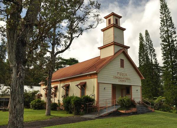Poster featuring the photograph Pu'ula Congregational Church - Nanawale by Steven Rice