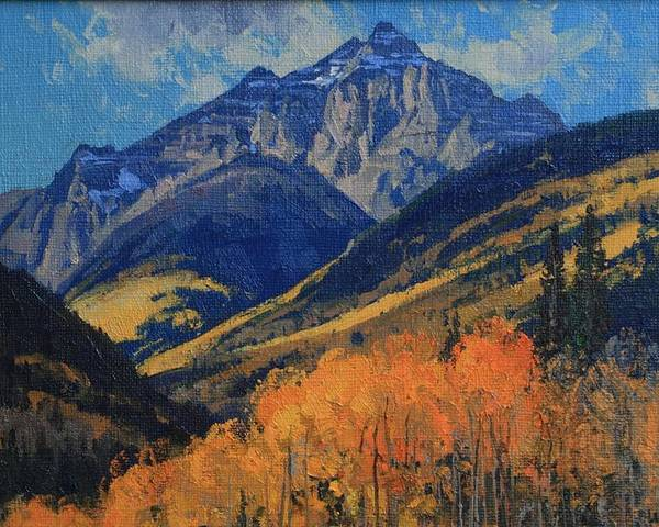 Landscape Poster featuring the painting Pyramid Peak by Lanny Grant