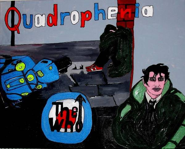 The Poster featuring the painting Quadraphenia by M D Artwork