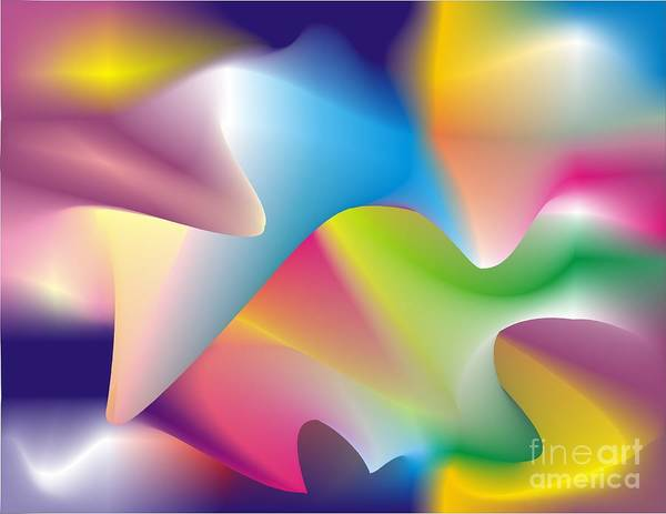 Abstract Poster featuring the digital art Quantum Landscape 2 by Walter Oliver Neal