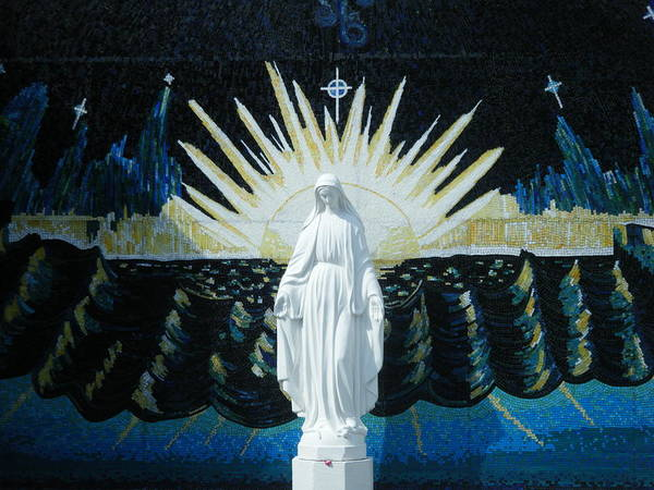 Blessed Mother Poster featuring the painting Queen Of The Sea by Demetria Kelley