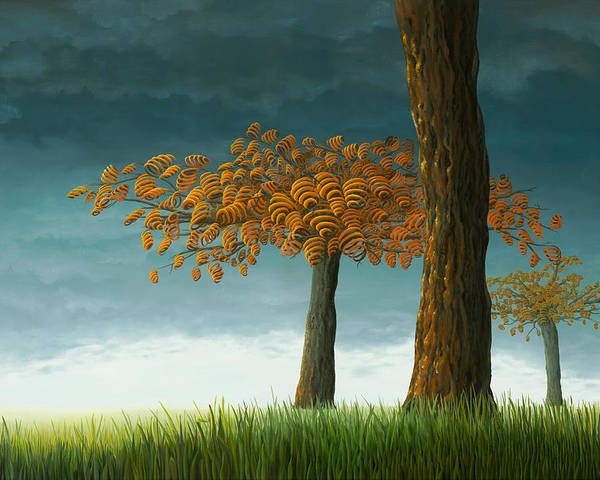 Tree Poster featuring the painting Quercus Corymbion by Patricia Van Lubeck