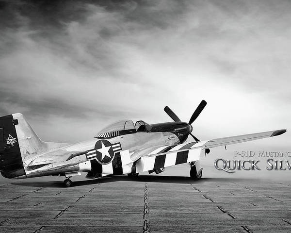 P-51 Poster featuring the photograph Quick Silver P-51 by Peter Chilelli
