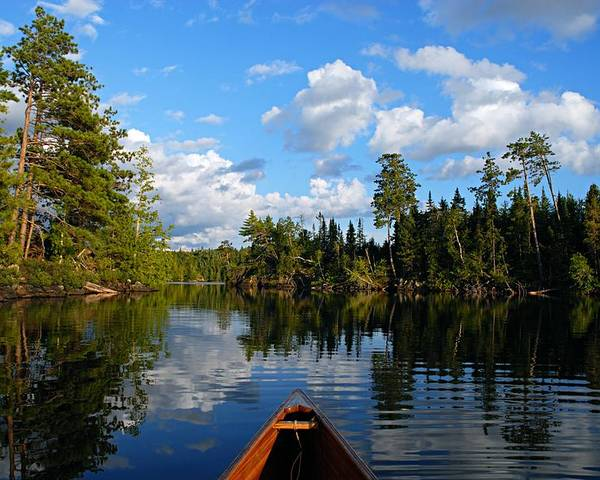 Spoon Lake Poster featuring the photograph Quiet Paddle by Larry Ricker