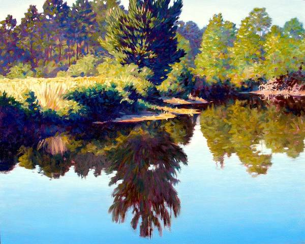 River Poster featuring the painting Quiet Pond by Kevin Lawrence Leveque