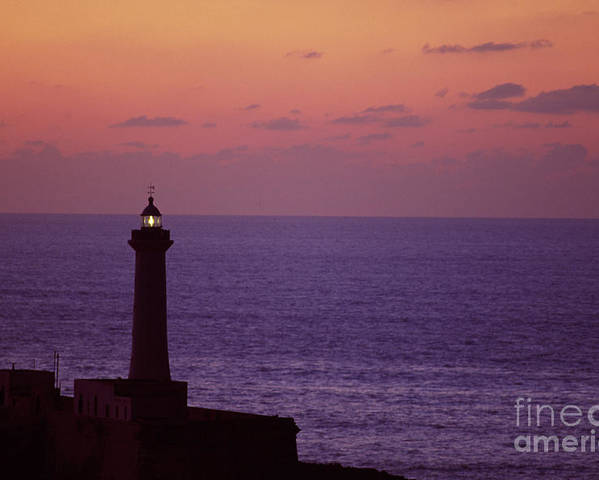 Rabat Morocco Lighthouse Poster featuring the photograph Rabat Morocco Lighthouse by Antonio Martinho