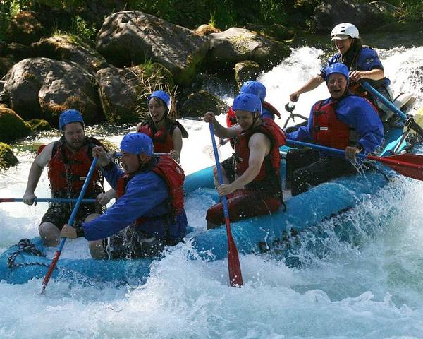 Action Poster featuring the photograph Rafting Rapture by Garry Kaylor