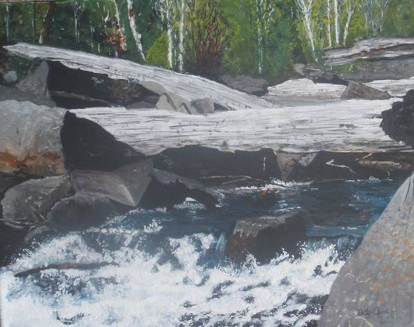 Landscape Poster featuring the painting Ragged Falls by Betty-Anne McDonald