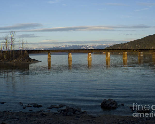 Bridge Poster featuring the photograph Railroad Bridge Over The Pend Oreille by Idaho Scenic Images Linda Lantzy