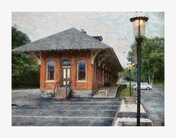 Digital Poster featuring the photograph Railroad Station by Ron Alderfer