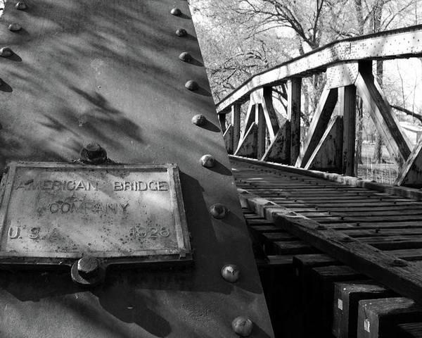 Bridge Poster featuring the photograph Railroad Trestle by Daniel Koglin