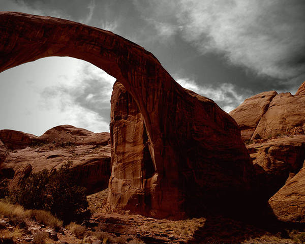 Photography Poster featuring the photograph Rainbow Bridge Utah by Tom Fant