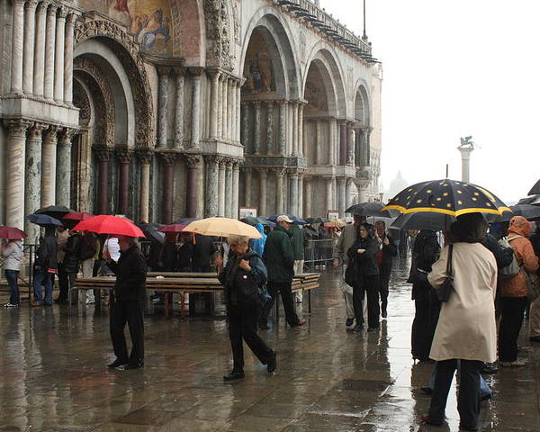 Venice Poster featuring the photograph Rainy Day In Venice by Michael Henderson